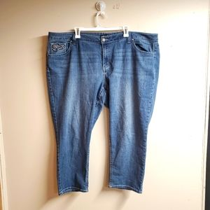 Love Indigo Cropped Capri Jeans